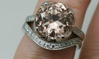 Recycled Morganite engagement ring