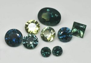 Image of Australian sapphires of different colours and shapes