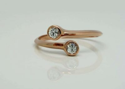 Rose Gold Bypass Ring