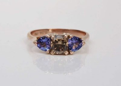 Tanzanite and Cognac Diamond Trilogy