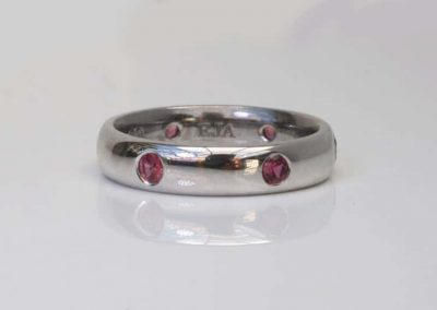 Hammer Set Ruby Ring