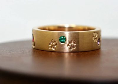Hearts and Paws Engraving with Birthstones