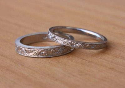 Engraved Platinum Wedders