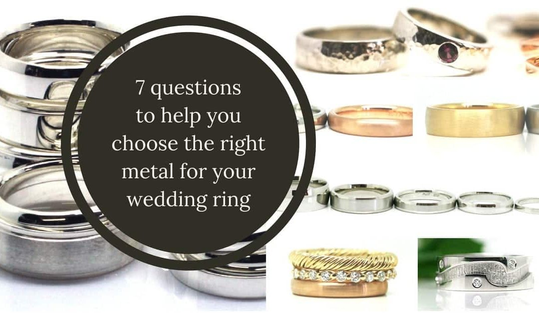 Image of different styles of rings made with different precious metals