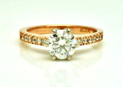 Moissanite and Rose Gold Ring