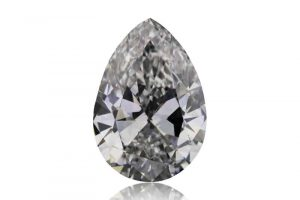 Photo of a pear-shaped Argyle white diamond from Western Australia