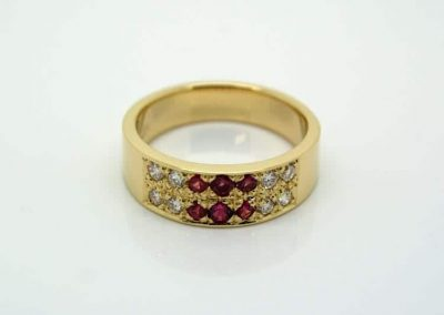Diamond and Fair Trade Ruby Anniversary Ring
