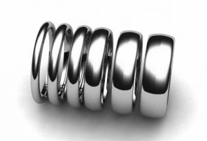 Graphic showing the available ring widths left to right: 2mm, 2.5mm, 3mm, 4mm, 5mm and 6mm