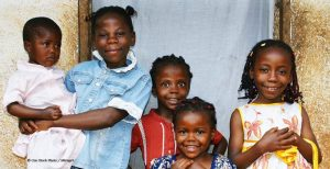 Photograph of five African children of varying ages
