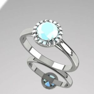 3D computer-generated render of a ring design