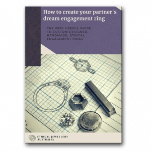 Book cover. How to create your partners dream engagement ring by Ethical Jewellery Australia