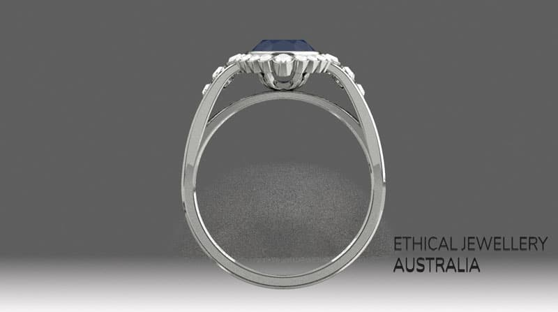 3D ring render - front view