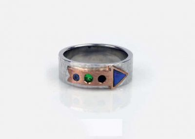 New Zealand Paua Shell Arrow Ring